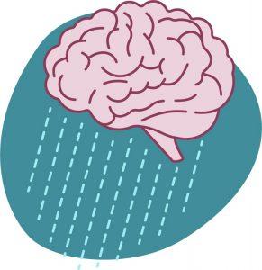 Image of a brain representing depression
